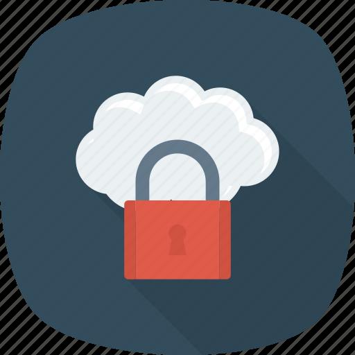 cloud, key, lock, security icon