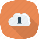 cloud, lock, locked, security icon