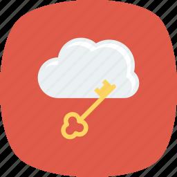 internet, key, lock, network icon