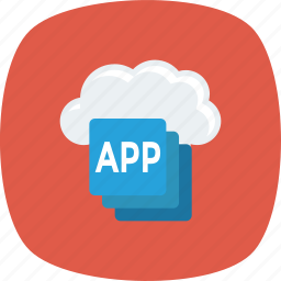 app, cloud, device, mobile, smartphone icon