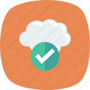 approve, check, checkmark, cloud icon
