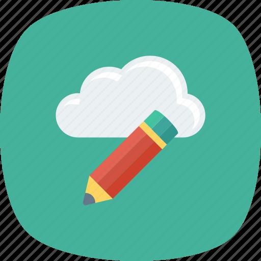 architecture, cloud, computing, design, pencil, progessing, ruler icon