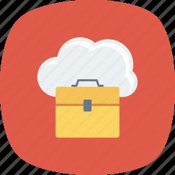 bag, briefcase, business, case, cloud, job, portfolio icon
