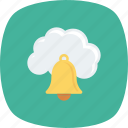 bell, cloud, computing, messaging, push icon