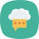 blog, chat, cloud, clouding, comment, forum, write icon
