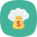 budget, cloud, finance, funding, money icon