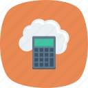 calc, calculate, calculation, calculator, cloud, education, math icon