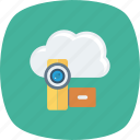 chatting, cloud, live, multimedia, online, video, webcam icon