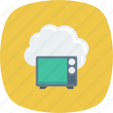 broadcast, cloud, data, retro, storage icon