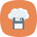 cloud, computing, data, file, floppy, online icon