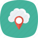 cloud, gps, map, mapping, navigation, pin icon