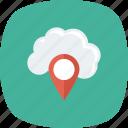 cloud, gps, map, mapping, navigation, pin