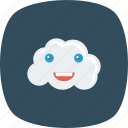 cloud, emoji, face, hosting, saas, smiley