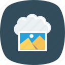 cloud, image, photo, storage icon