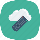 cloud, control, entertnment, remote icon