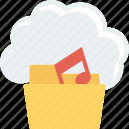 audio, cloud, music, sound icon