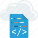cloud, computing, programming icon
