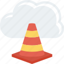 cloud, cone, data, highway, internet icon