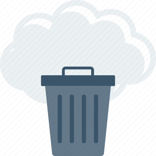 bin, cloud, delete, dustbin, recycle, trash, trashcan icon