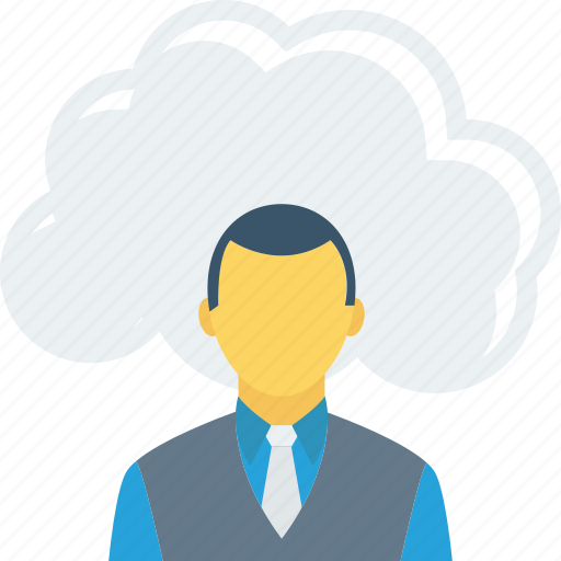 cloud, communication, online, user icon