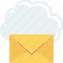 cloud, eml, envelope, line, ml icon