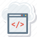 api, cloud, code, program, technology icon