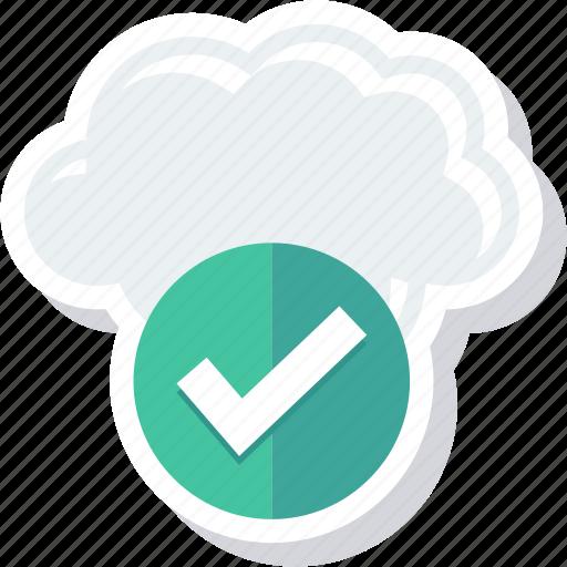 approve, check, checkmark, cloud icon
