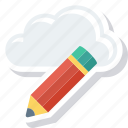 architecture, cloud, computing, design, pencil, progessing, ruler icon