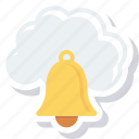 bell, cloud, computing, messaging icon