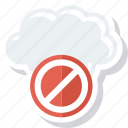 block, cloud, error, warning icon