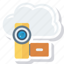 call, chatting, cloud, live, multimedia, online, video icon