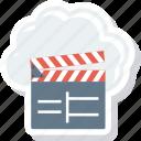 cinema, clapper, cloud, entertnment