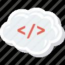 cloud, code, html, markup icon