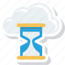hourglass, loading, refresh, updating icon