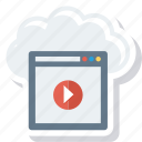 cloud, multimedia, online, storage icon