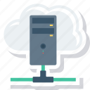 cloud, database, host, hosting, server, settings, share icon