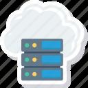 cloud, database, server, storage