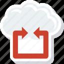 cloud, cog, preferences, receive, send, setting, web