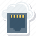 cloud, connecter, connector, dsl, lan, network icon