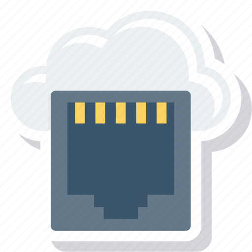 Cloud, connecter, connector, dsl, lan, network icon - Download on Iconfinder