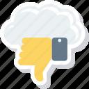 cloud, dislike, down, thumb, thumbs, vote