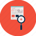 engine, magnifying, optimization, search, seo, view, web icon