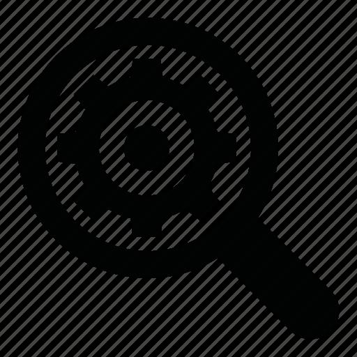 internet, marketing, search, seo, setting, settings, zoom icon