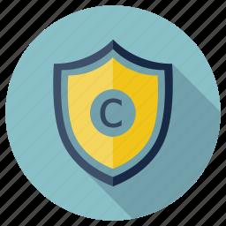 brand, copyright, fresh idea, idea, lock, protection, seo icon