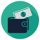 bank, budget, business, dollar, money, seo, wallet icon