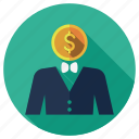 budget, business, bussinessman, cash, dollar, marketing, seo icon