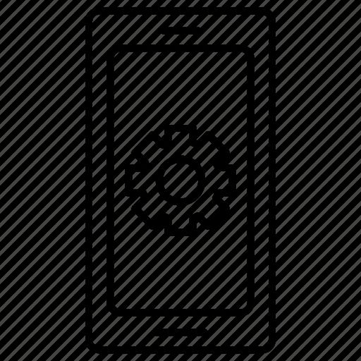 mobile, mobile store, optimization, search engine, seo, settings icon