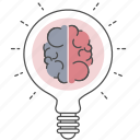 brain, creative, idea, optimization, seo, think icon