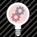 idea, optimization, seo, setting icon