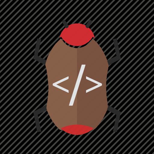 bug, code, seo, seo pack, seo services, seo tools icon